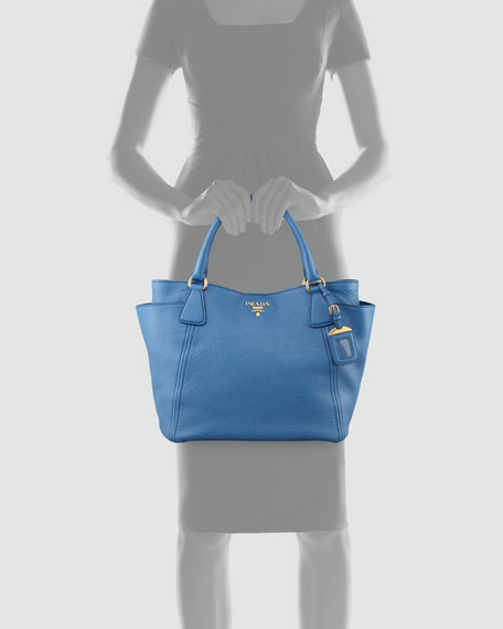 Daino Side-Pocket Tote Bag, Cobalt (Cobalto)