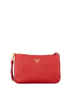 Prada Daino Small Shoulder Bag, Red (Rosso)