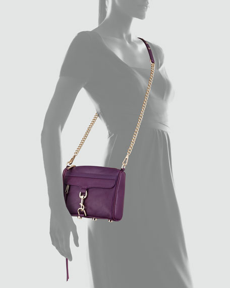 Mini MAC Crossbody Bag, Plum