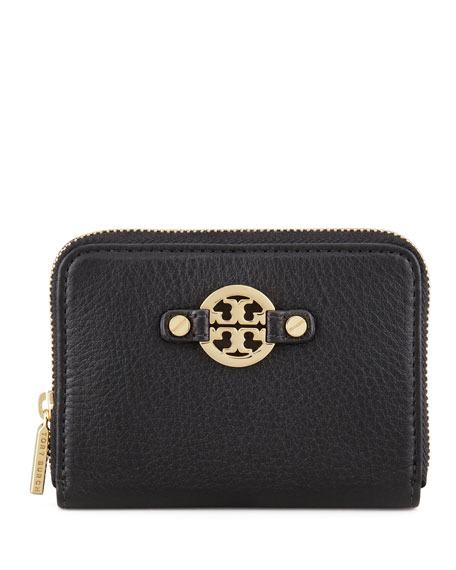 Amanda Zip-Around Coin Case, Black