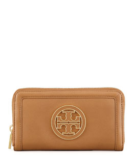 Tory Burch Amanda Continental Zip Wallet, Royal Tan