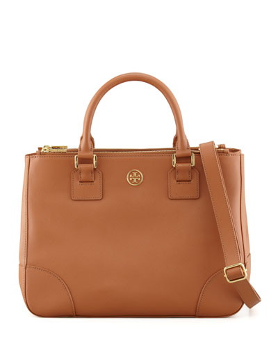 Tory Burch Robinson Double-Zip Tote Bag, Luggage