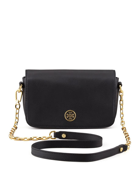 Tory Burch Robinson Mini Chain-Strap Bag, Black