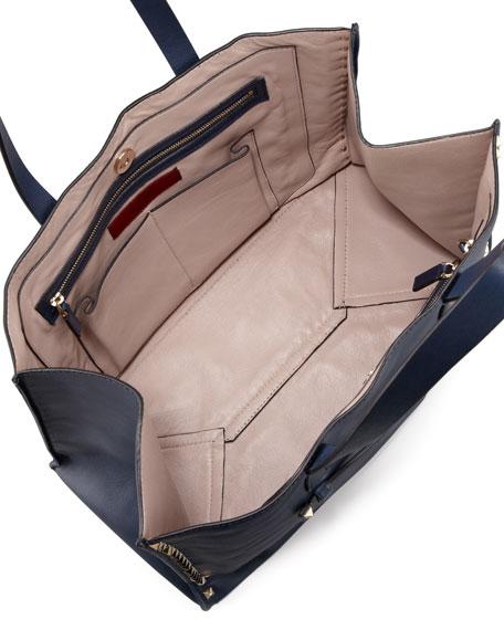 Rockstud Shopping Tote Bag, Navy