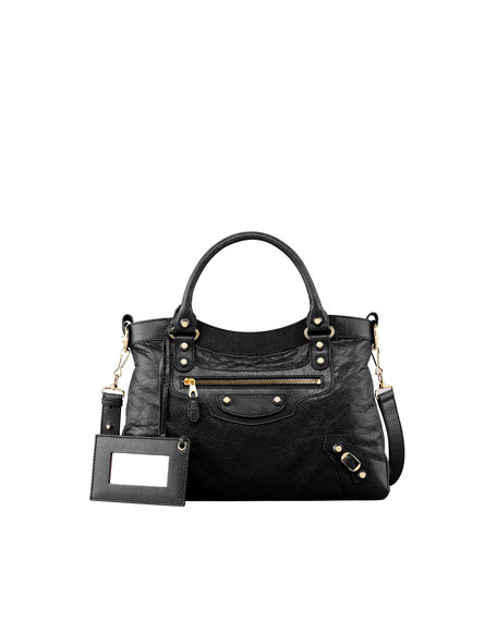 BalenciagaGiant 12 Golden Town Bag, Black