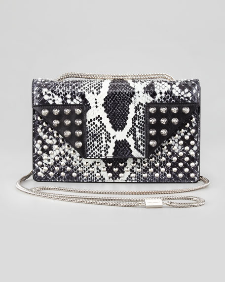 Borsa Betty Mini Python Shoulder Bag