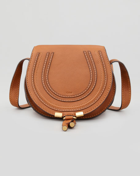 Chloe Marcie Small Leather Crossbody Bag, Tan
