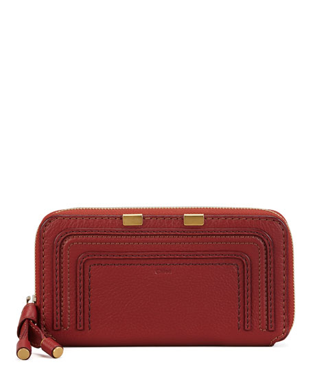 Marcie Continental Zip Wallet, Red