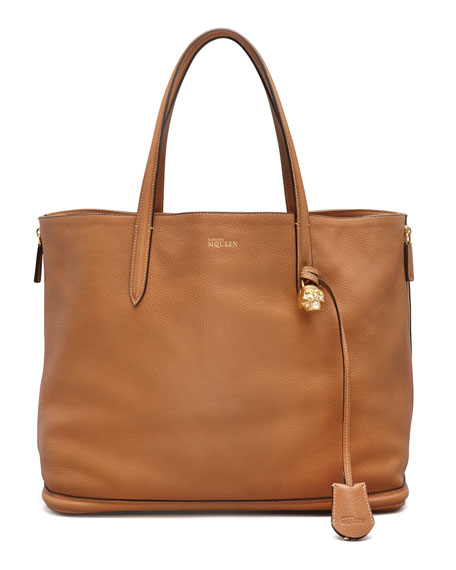 New Padlock Small Shopper Bag, Camel