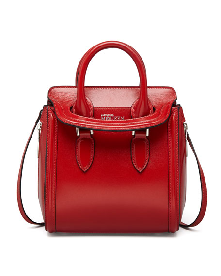 Alexander McQueen Heroine Mini Satchel Bag, Red