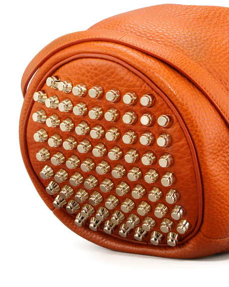 Alexander Wang Diego Bucket Bag, Orange/Pale Golden