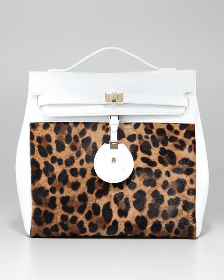 Jourdan Leopard-Print Backpack Bag