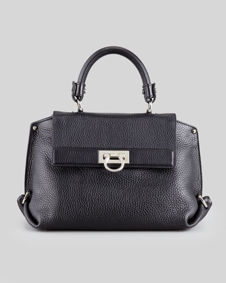Sofia Medium Satchel Bag, Black