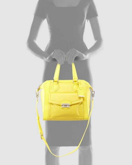 Zoe Structured Satchel Bag, Sunlight