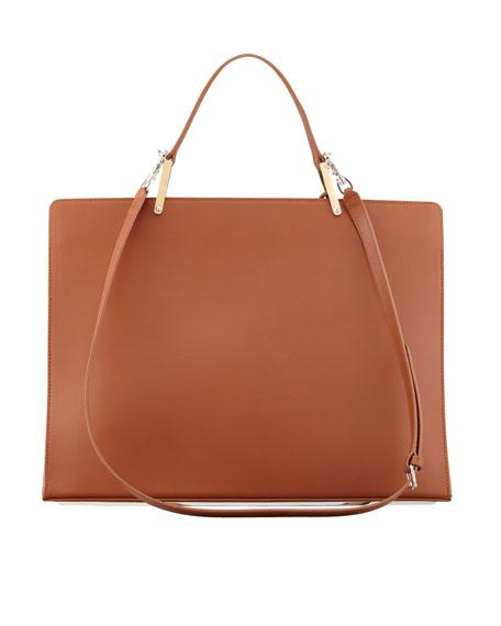 Le Dix Cartable Zip Satchel Bag, Brown