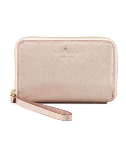 kate spade new york cherry lane louie wallet, rose gold