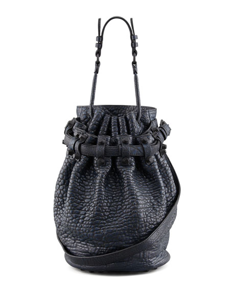 Diego Bucket Bag, Navy