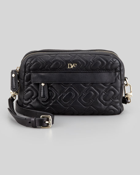 Milo Quilted Mini Bag, Black