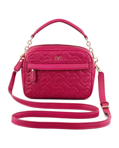 Milo Quilted Mini Bag, Pink