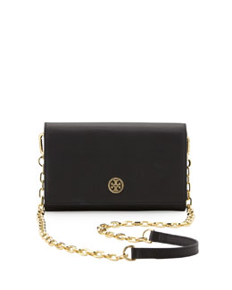 Tory Burch Robinson Wallet On A Chain, Black