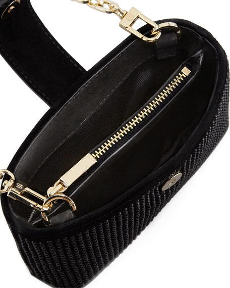 Crystallized Smart-Phone Crossbody Bag, Black