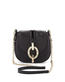 Diane von Furstenberg Sutra Mini Leather Crossbody Bag, Black