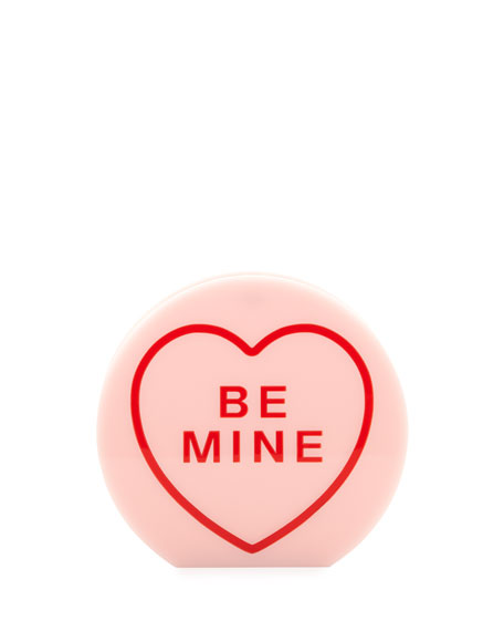 "Arm Candy ""Be Mine"" Acrylic Clutch Bag, Candy"