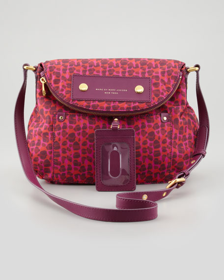 Preppy Nylon Natasha Isa Print Bag, Red/Pink