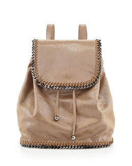 Stella McCartney Falabella Drawstring Backpack, Beige