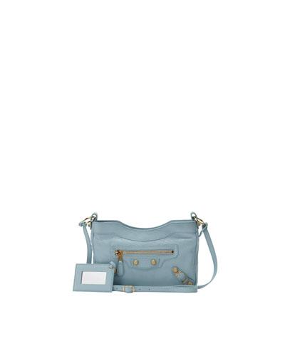 Giant 12 Golden Hip Crossbody Bag, Blue Dragee