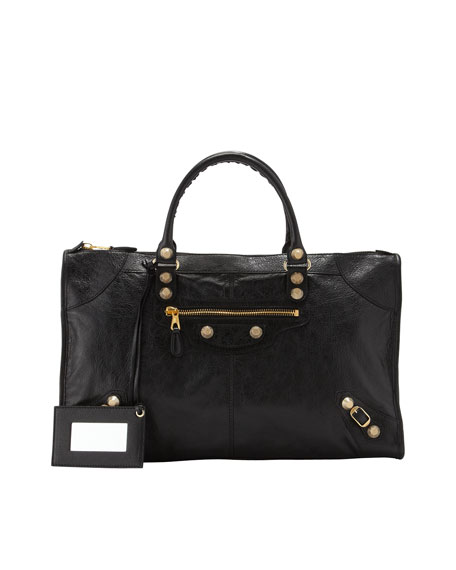 Balenciaga Giant 12 Golden Work Bag, Black
