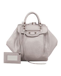 Balenciaga Classic Zip Traveler Backpack, Light Gray