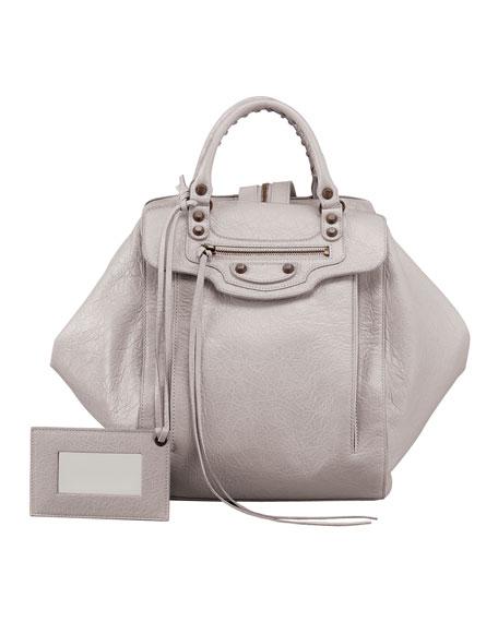 Classic Zip Traveler Backpack, Light Gray