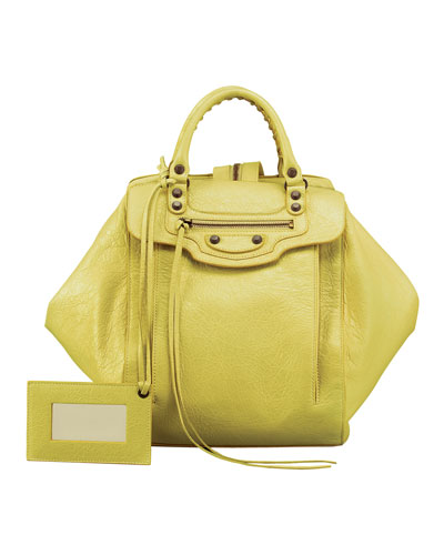 Balenciaga Classic Zip Traveler Backpack, Yellow