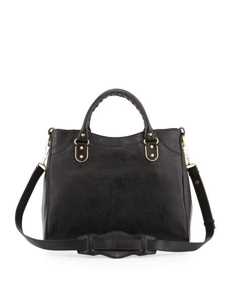 cbbdb16d33 Balenciaga Metallic Edge Classic Velo Bag, Black
