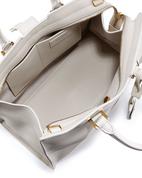 Y-Ligne Cabas Mini Leather Bag, White