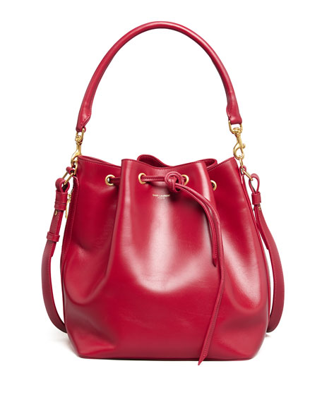 Bucket Shoulder Bag, Red