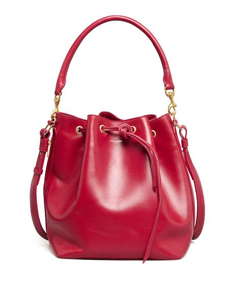 Bucket Shoulder Bag, Red