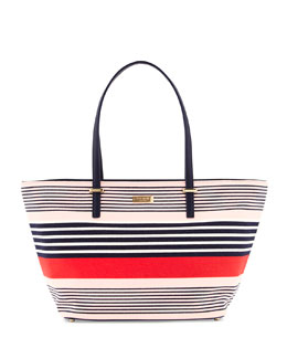 kate spade new york cedar street striped small harmony tote bag