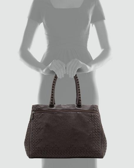 Cervo Woven Frame Tote Bag, Espresso