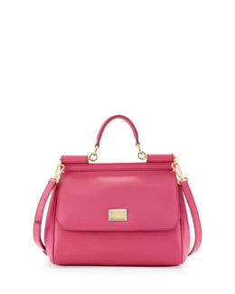 Dolce & Gabbana Miss Sicily Small Satchel Bag, Pink