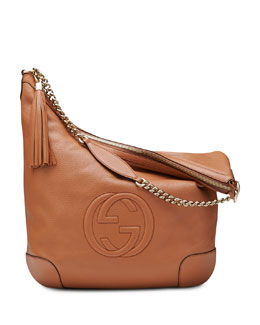 Gucci Soho Leather Chain Shoulder Bag, Tan