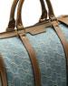 Vintage Web GG Denim Boston Bag, Denim/Brown