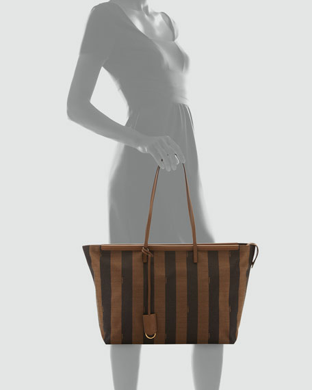 bd01897d2f Fendi Pequin-Stripe Tote Bag