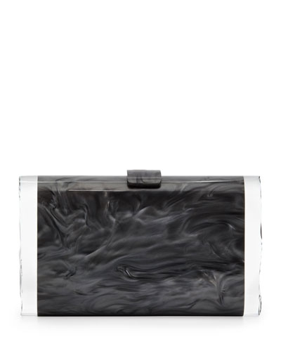 Lara Acrylic Ice Clutch Bag, Steel