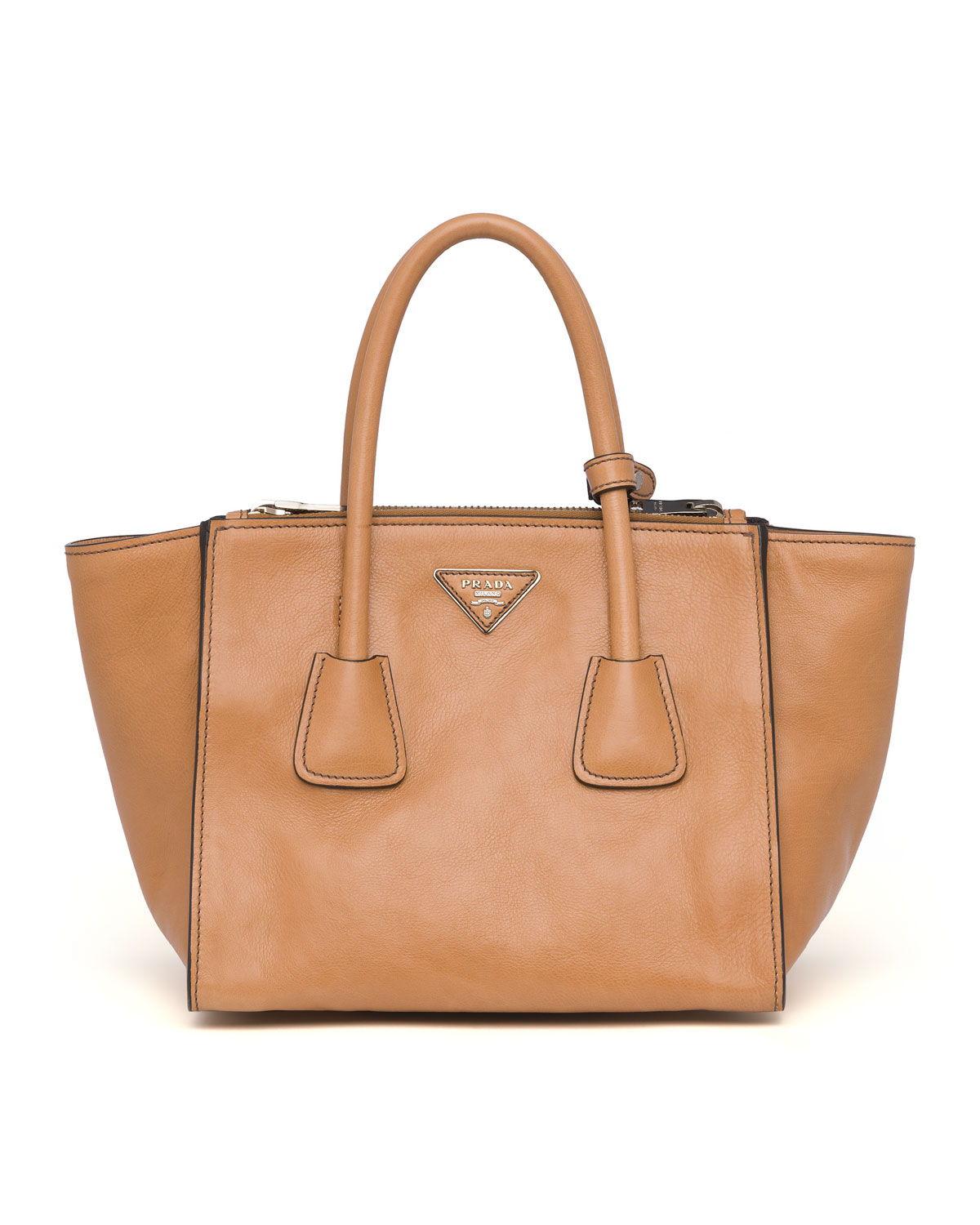 84ff345abde2 Prada Glace Calf Twin Pocket Tote Bag, Natural (Naturale) | Neiman ...