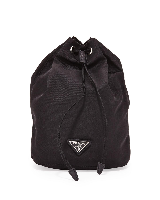 9464c2e27f08 Prada Vela Drawstring Pouch, Black (Nero) | Neiman Marcus