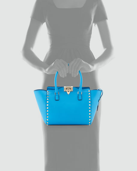 Rockstud Shopper Tote Bag, Blue