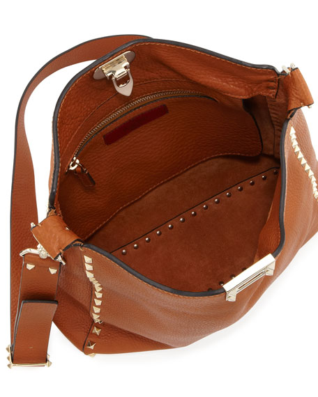 Rockstud Medium Flip-Lock Hobo Bag
