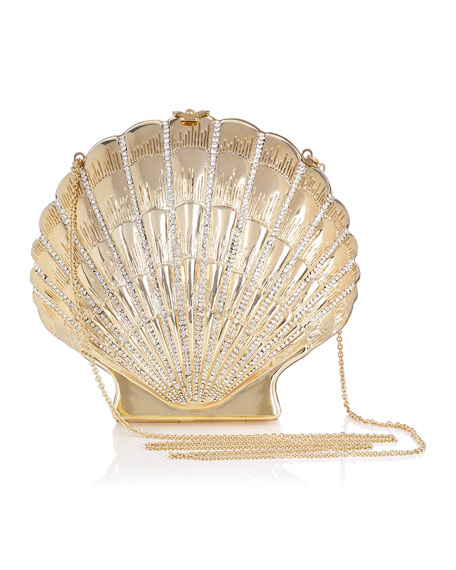 Shell Shocked Shoulder Bag, Gold
